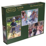 Jumbo-11058 3 Jigsaw Puzzles - Steve Noon : The Proud Father