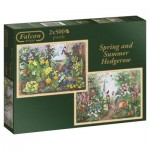 Jumbo-11104 2 Jigsaw Puzzles - Spring and Summer Hedgerow