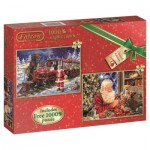 Jumbo-11122 2 Jigsaw Puzzles - All Ready for Christmas