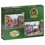 Jumbo-11132 2 Jigsaw Puzzles - Kevin Walsh: 1940s and 1950s