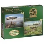 Jumbo-11135 2 Jigsaw Puzzles - 40th Anniversary Heroes