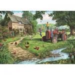 Puzzle  Jumbo-11140 XXL Pieces - Steve Crisp - Old Tractor