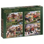 Jumbo-11145 4 Jigsaw Puzzles - Kevin Walsh - The Village Green