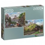 Jumbo-11152 2 Jigsaw Puzzles - Around Britain - Corfe Castle