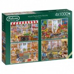 Jumbo-11249 4 Puzzles - Steve Crisp - Favourite Shops