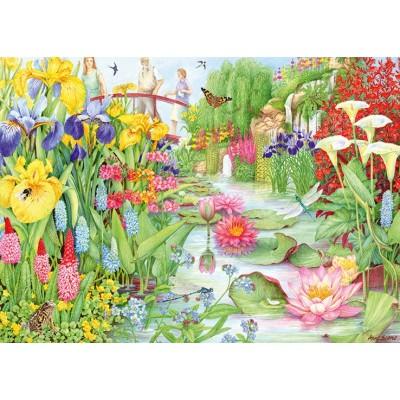 Puzzle Jumbo-11282 Flower Show: The Water Garden