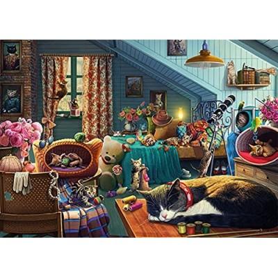 Puzzle Jumbo-11300 Cats in the Attic
