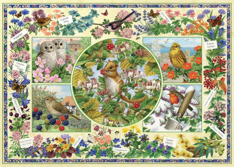 puzzle sarah adams the country garden jumbo 11131 1000 pieces jigsaw puzzles birds jigsaw. Black Bedroom Furniture Sets. Home Design Ideas