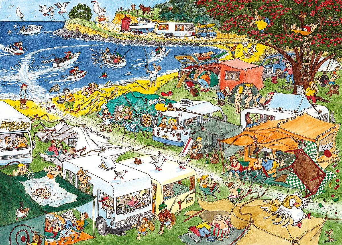 2 Puzzles - Mystery Mayhem 2 - Camping Commotion Gibsons-G7049 ...
