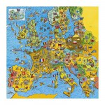 Gibsons-G1010 Jigsaw Puzzle - 200 Pieces - Square - Europe Map