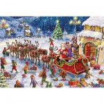 Puzzle  Gibsons-G1113 Marcello Corti: Santa's Little Helpers