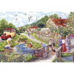Puzzle  Gibsons-G2711 XXL Pieces - Summer by the Stream