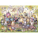 Puzzle  Gibsons-G2717 XXL Pieces - Mad Catter's Tea Party