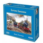 Gibsons-G3034 Jigsaw Puzzle - 500 Pieces - Legendary Locomotives