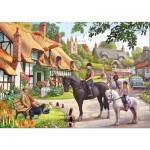 Gibsons-G3056 Jigsaw Puzzle - 500 Pieces : A Ride with Mum