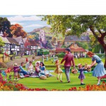 Puzzle  Gibsons-G3517 XXL Pieces - Mat Edwards: Picnic on the Green