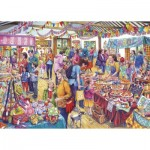 Puzzle  Gibsons-G3541 XXL Pieces - Village Tombola