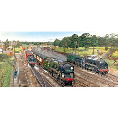 Gibsons-G4018 Jigsaw Puzzle - 636 Pieces - Panoramic - New Forest Junction