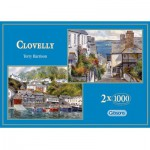 Gibsons-G5004 Jigsaw Puzzle - 1000 Pieces - 2 in 1 - Colourful Villages