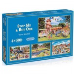 Gibsons-G5012 Jigsaw Puzzle - 4 x 500 Pieces : Stop Me and Buy One