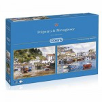 Gibsons-G5019 Jigsaw Puzzle - 2 x 500 Pieces : Mevagissey and Polperro
