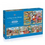 Gibsons-G5024 4 Puzzles - Trevor Mitchell: A Trip to the Shops