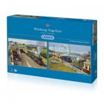 Gibsons-G5032 2 Jigsaw Puzzles - Barry Freeman: Working Together