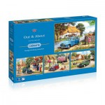 Gibsons-G5034 4 Jigsaw Puzzles - Kevin Walsh: Out and About