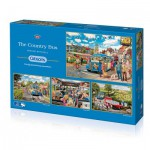Gibsons-G5037 4 Jigsaw Puzzles - Trevor Mitchell : The Country Bus