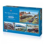 Gibsons-G5038 4 Jigsaw Puzzles - Barry Freeman: The Glory of Steam