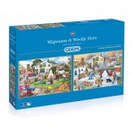 Gibsons-G5042 2 Jigsaw Puzzles - Trevor Mitchell - Wigwams and Woolly Hats