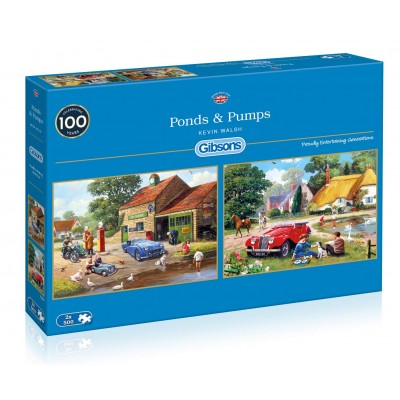 Gibsons-G5050 2 Puzzles - Kevin Walsh - Ponds & Pumps