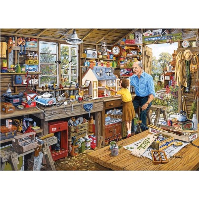 Gibsons-G6061 Jigsaw Puzzle - 1000 Pieces - Grandpa's Workshop