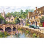 Gibsons-G6070 Jigsaw Puzzle - 1000 Pieces - Castle Combe Village