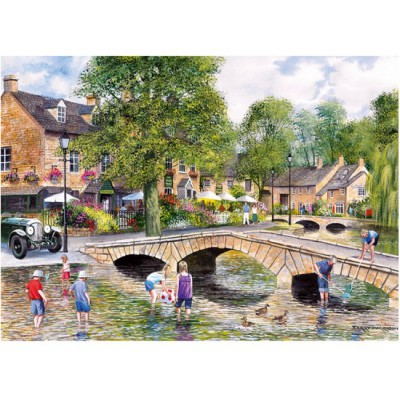 Gibsons-G6072 Jigsaw Puzzle - 1000 Pieces - Bourton-on-the-Water, Gloucestershire