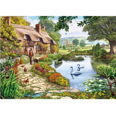 Gibsons-G6086 Jigsaw Puzzle - 1000 Pieces - Meadow Farm