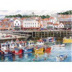 Gibsons-G6090 Jigsaw Puzzle - 1000 Pieces - Scarborough Fishing Harbour