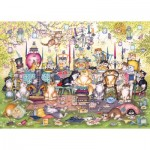 Puzzle  Gibsons-G6259 Linda Jane Smith - Mad Catter's Tea Party