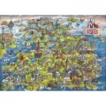 Puzzle  Gibsons-G7080 Maria Rabinsky - Beautiful Britain