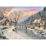 Puzzle   Thomas Kinkade - Winter Evening Dusk