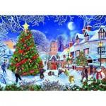 Puzzle   XXL Pieces - Steve Crisp - The Village Christmas Tree