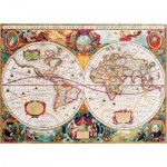 Puzzle  Gold-Puzzle-60096 Old World Map