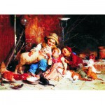 Puzzle  Gold-Puzzle-60270 Gaetano Chierici: Farmyard Rascals
