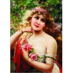 Puzzle  Gold-Puzzle-60515 Emile Vernon: Young Lady with Rose