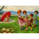 Puzzle  Gold-Puzzle-60676 Federico Olivia: Playing Children