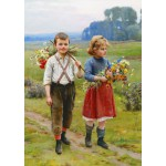 Puzzle  Gold-Puzzle-60720 Cesar Pattein: Children on a Country Road