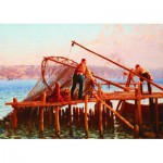 Puzzle  Gold-Puzzle-60829 Fausto Zonaro: Fishermen Bringing in the Catch