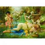 Puzzle  Gold-Puzzle-60874 Joseph Bernard: Venus and Cupid