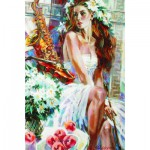 Puzzle  Gold-Puzzle-61079 Girl with Peaches and Saxophone