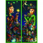 Gold-Puzzle-61123 2 Jigsaws Puzzle - Night Rendez-vous